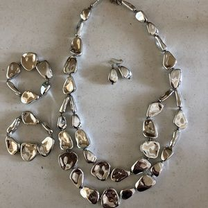Chico's earring and necklace set